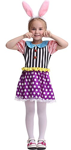 [Cohaco Girl's Party Costume Colorful Rabbit Dress (3T-4T)] (Asian Animal Costumes)