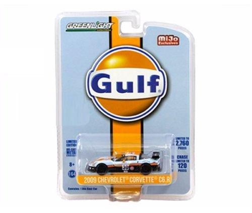 Greenlight 51128 2009 Chevrolet Corvette C6 R #30 Gulf Oil Racing Limited Edition of 2760 1/64 Diecast Model Car ()