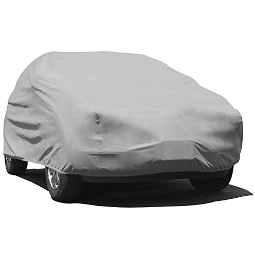 Budge Rain Barrier SUV Cover Mits Full Size SUVs up to 210 inches, URB-2 - (Polypropylene with Waterproof Film, Gray) Range 68 Inch Gas Range