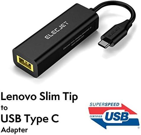 ELECJET Lenovo Slim Tip zu USB C Adapter | AnyWatt SQ | Konvertieren ThinkPad Square | Kompatibel mit MacBook ProLaptopSwitch | [USB IF
