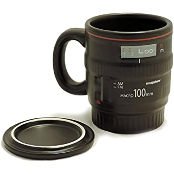 Amazon.com: Camera Lens Coffee Mug, 13.5 Oz :: Exact Replica of ...