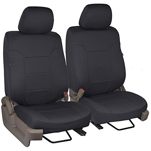 PolyCustom Truck Seat Covers for Ford F-150 Regular & Extended Cab 2009-2013 - EasyWrap Cloth (Black)
