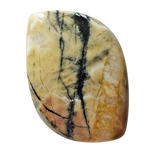 (RAVISHINGGEMS Natural Snakeskin Jasper Cabochon, Size 25x18x4 MM, Jewellery Making, Designer Stone for Pendant, Crafts, Handmade, 20325)