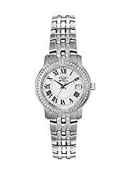 Rotary Les Originales LB90090/41 - Wristwatch da Woman, cinturino in Stainless Steel Silver Tone