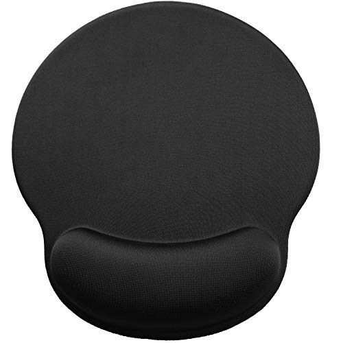 MROCO Ergonomic Mouse Pad with Gel Wrist Rest Comfortable Mouse Pad with Wrist Support, Pain Relief Mousepad with Non-Slip PU Base Mouse Mat for Home, Office & Travel, 9.8 x 8.6 inches, Black