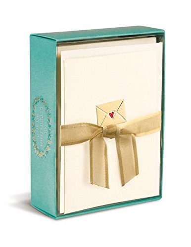 Graphique Letter From My Heart La Petite Presse Notecards, 10 Durable Embossed and Embellished Gold Foil Envelope