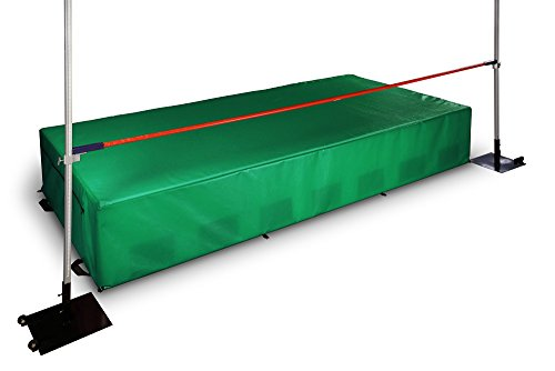 Elementary school and middle school track & field high jump pit, crossbar, standards, and waterproof cover. Ten year warranty.