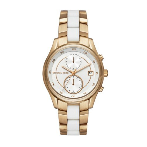 Michael Kors Women's Briar Gold-Tone Watch - Michael White Kors And Gold