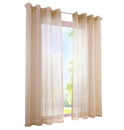 86 York Sheer Curtain Transparent Voile Window Treatment Grommet Curtain for Living Room Dining Room 1 Panel