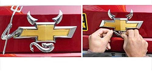 Bonnio 3d Chrome Teufel Dämon Auto Emblem Aufkleber Aufkleber Abzeichen Kit Küche Haushalt