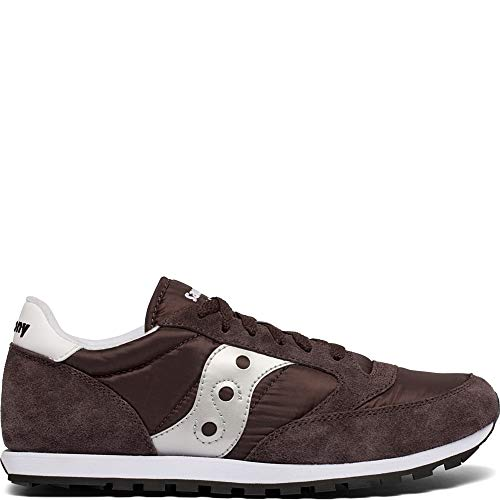 Saucony Originals Men's Jazz Lowpro Sneaker Coffee/Silver 9.5 M US