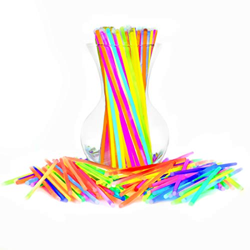 Glow Sticks Bulk Party Favors 400pk 8 Inch Glow in The Dark Party Supplies, Neon Party Light Sticks -