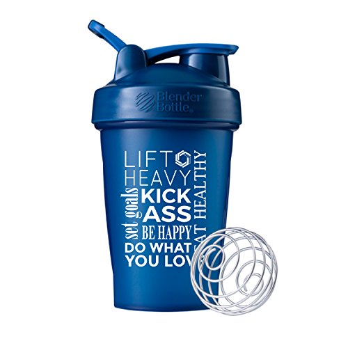 Do What You Love Blender Bottle Shaker Cup, 20oz Classic Blender Bottles, Protein Shakers (Navy - 20oz)