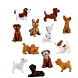 30 Adopt a Puppy Dog Figures Series 4 Dachshund Basset Hound Bull Terrier Jack Russell Dalmatian Black Labrador Yorkshire Boxer Bloodhound Bulldog Poodle Chihuahua Mini Toy Bag Lot