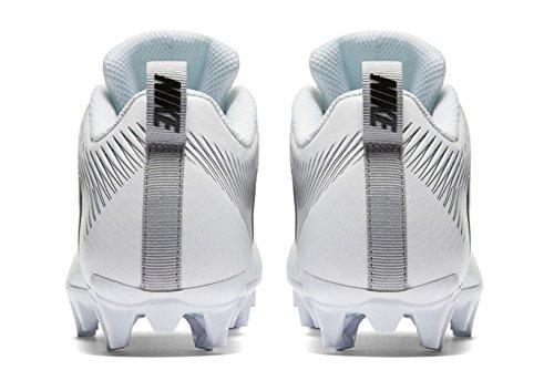 NIKE Mens Vapor Strike 5 TD Football Cleat White/ Metallic Silver-black r061a