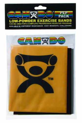 (Cando Fitness Resistance Bands PEP Pack : Challenging Resistance (Black, Silver, Gold))