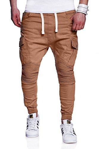 MT Styles Mens Biker Jogging-Jeans Chino Pants RJ-2276 [b...