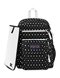JanSport Digital Student - Mochila para portátil, Black Dot Swell, Una talla