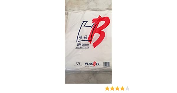 Bolsas de Plastico Asa Camiseta (50 x 60 cm. (200 unidades)) …