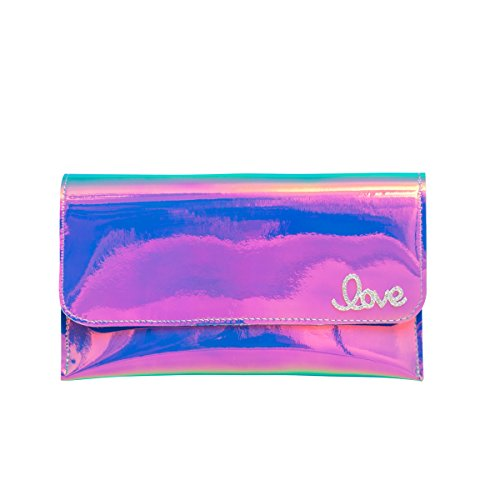 Piel de amor Zarapack para mujer funda para tarjetas de aparcamiento bolso de mano con de embrague de imitación estilo 2