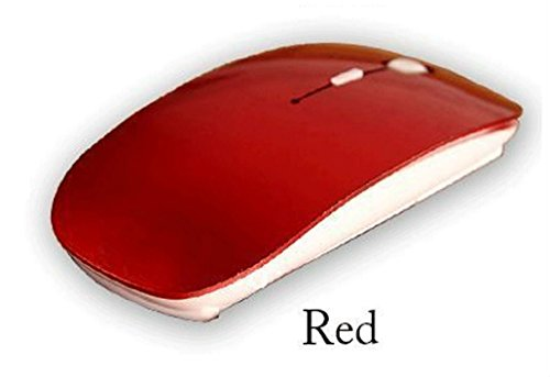 Wireless Optical Mouse 2.4GHz Quality Mice USB 2.0 Receiver for PC Laptop RED from Unbranded*