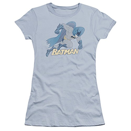 Batman+Retro+Shirts Products : Batman Running Retro Juniors Premium Bella Shirt