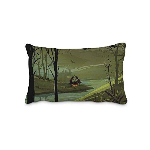Festival Halloween Pillow Case Cover Queen Standard Size 2017 Pillow Protector 20x30inch(Twin Sides)With Hidden Zipper]()