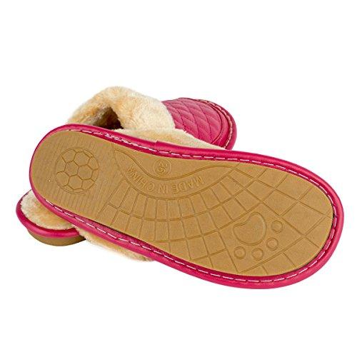 Haisum 8828 Zapatillas por casa b vacuna piel rosa de w de estar hombre para 1HHACqw