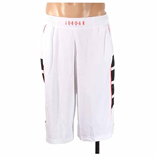 0c1b7e4f544ad8 Amazon.com  Jordan CAT SCRATCH BASKETBALL SHORT WHITE BLACK INFRARED 23  INFRARED 23 589345-100  Clothing