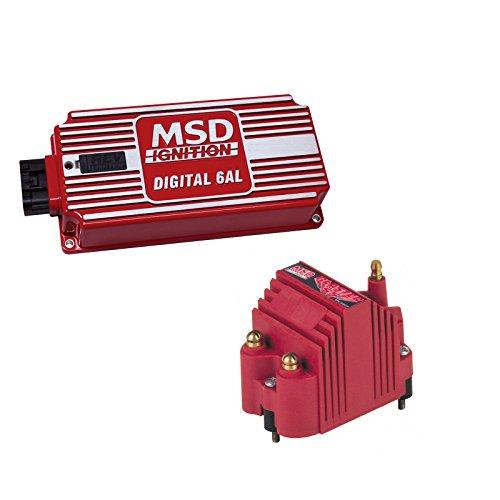 - MSD 6425-K1 Ignition Kit Digital 6AL Box Blaster SS High Voltage Coil