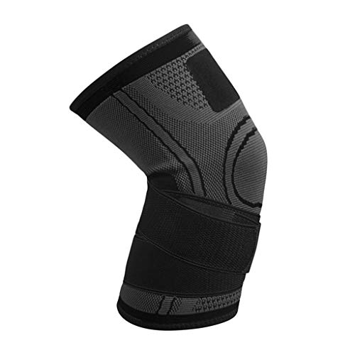 Suma-ma 1Pcs Unisex Sports Breathable Knee Sleeve,Man Women Outdoor Climbing Bandage Knee Braces Running Fitness kneecaps(Black,M) ()