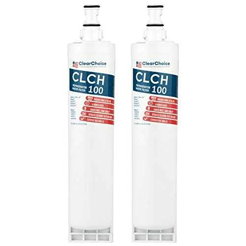 Clear Choice Replacement for Whirlpool 4396508 4396510 Filter Compatible with FILTER5 WF285 WPRF-100 8212652 491849 4396547 Refrigerator Water Filter, NSF Certified, Box of 2, Made in the USA