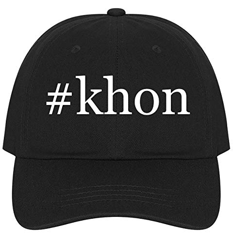 (The Town Butler #Khon - A Nice Comfortable Adjustable Hashtag Dad Hat Cap, Black)