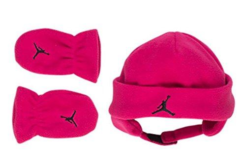 Nike Girls' Infant Jordan Fleece Hat and Mittens Set 12/2...