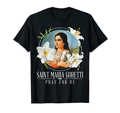 - St. Maria Goretti Lily Symbol Purity Catholic Saints Shirt