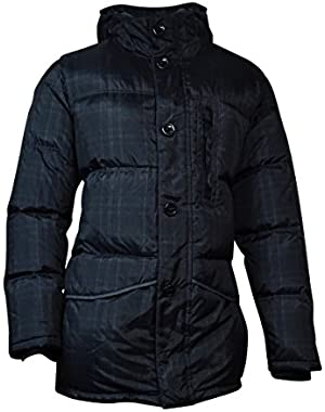 Mens Water Resistant Down/Feather Filled Coat Gray XL
