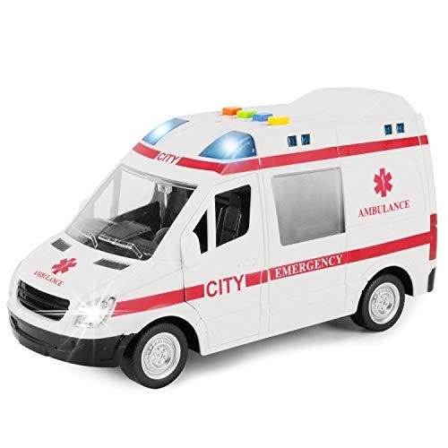 자유는 빛과 소리를 가진 큰 마찰 강화된 구조 구급차 장난감 비상사태 차량을 수입합니다