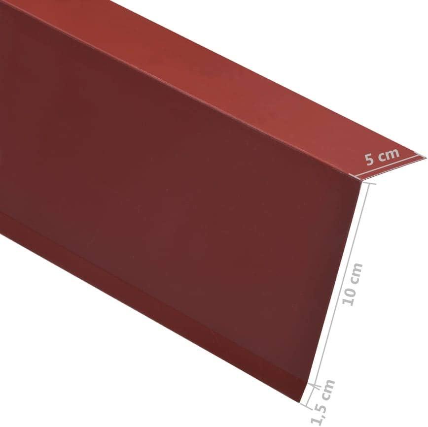 Dachrandblech L-Form Blechwinkel Aluminium 90/°-L-Profil L/änge von 170 cm L-Profile Dach Kantblech ALU Winkelblech f/ür Dachkanten 16,5 cm // 5 x 10 cm, Braun UnfadeMemory 5 Stk