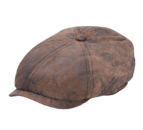 Stetson - Béret - casquette plate cuir homme Mccook Pigskin