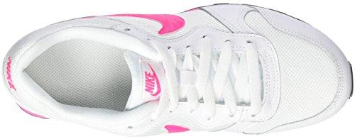 Nike Mädchen MD Runner 2 (GS) Laufschuhe, One Size Weiß (White/Hyper Pink-Black)