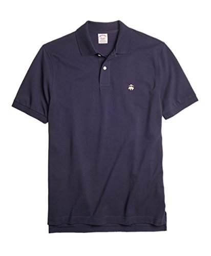 - Brooks Brothers Men's Original Fit Performance Pique Polo Shirt Navy Blue (Small)
