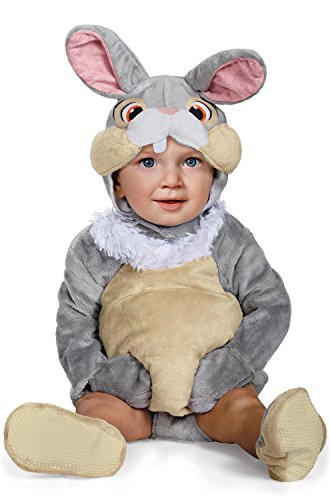Disguise Baby Thumper Deluxe Infant Costume, Gray 6 to 12 -