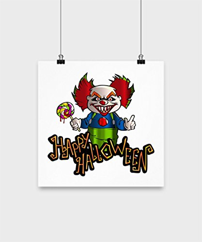 Happy Halloween Home Decor Poster - Trick or Just Treats, Pumpkin, BOO, Sup Witches, BOO Ghost, BOO We Ain't Afraid of No Ghosts, We Ain't Afraid of N ()