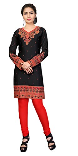 Indian Tunic Top Womens Kurti Printed Blouse India Clothing – Small, L 131