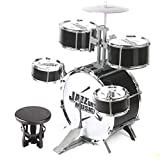 LIPENG-TOY Infant Children Enlightenment Musical Instruments Beginners 1-3-6 Years Drum Boys Toys Beating Large Entry (Color : Black)