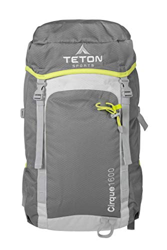 TETON Sports Cirque 1600 Backpack Packable, Lightweight, Comfortable Daypack for Hiking and Travel Overnight Bag