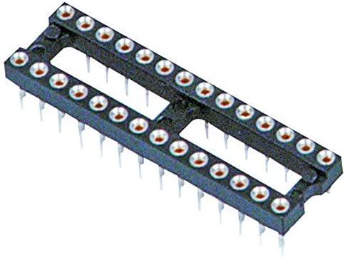 Pack of 10 IC /& Component Socket DIP Socket 15.24 mm Beryllium Copper, 2.54 mm 110-13-628-41-001000 28 Contacts