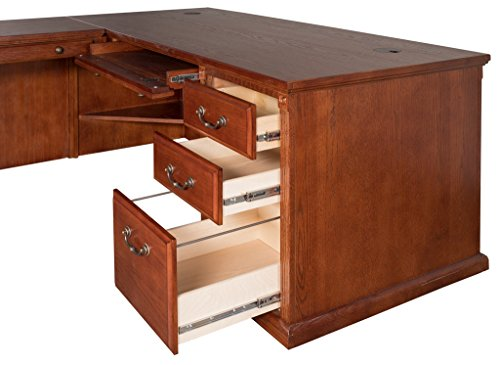 Kathy Ireland Home By Martin Huntington Oxford Office Left L-Shaped Desk, Burnish Finish by Martin Furniture (Image #5)