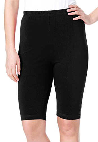 Women's Plus Size Bike Shorts In Comfy Stretch Fabric Black,