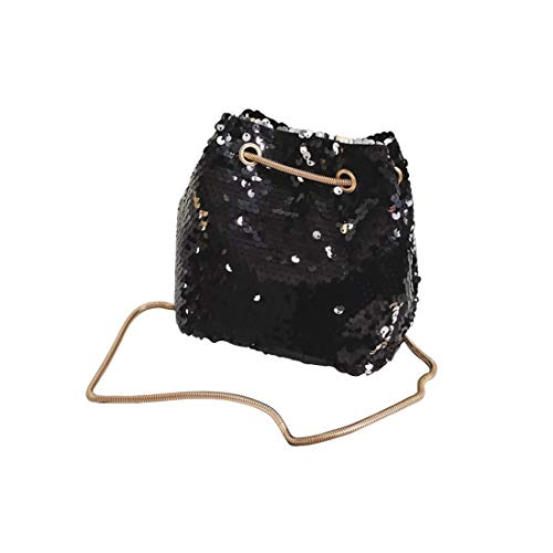 Top Handle Hobo Bags Women Shoulder HUAIDE Body Black Bags Cross Sequin Tote Handbag Messenger for Bags a4nxv1